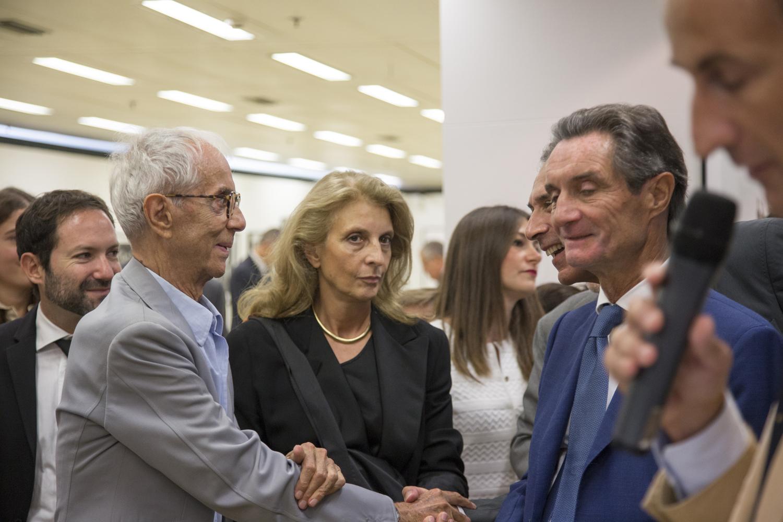 Gian Paolo Barbieri, Martina Corgnati e Attilio Fontana